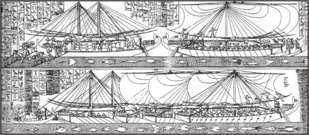 Корабли египетской экспедиции в Пунт