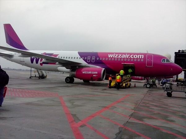 Наш самолет до Норегии