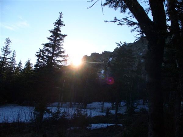 Закат в базовом лагере